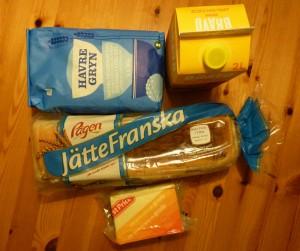 Typische Verpackungsgrößen in Schweden