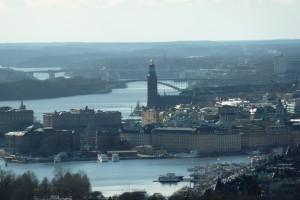 Gute Aussicht auf die Altstadt und das Rathaus.